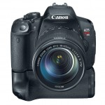 Canon EOS Rebel T5i Digital SLR With Battery Grip