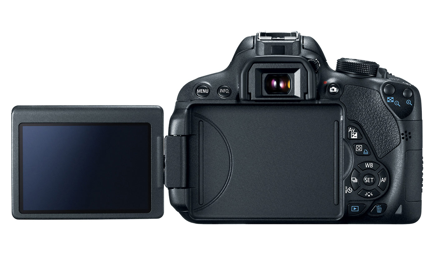 Canon EOS Rebel T5i / EOS 700D - Rear With 3-inch Tilt-Swivel Touchscreen Display