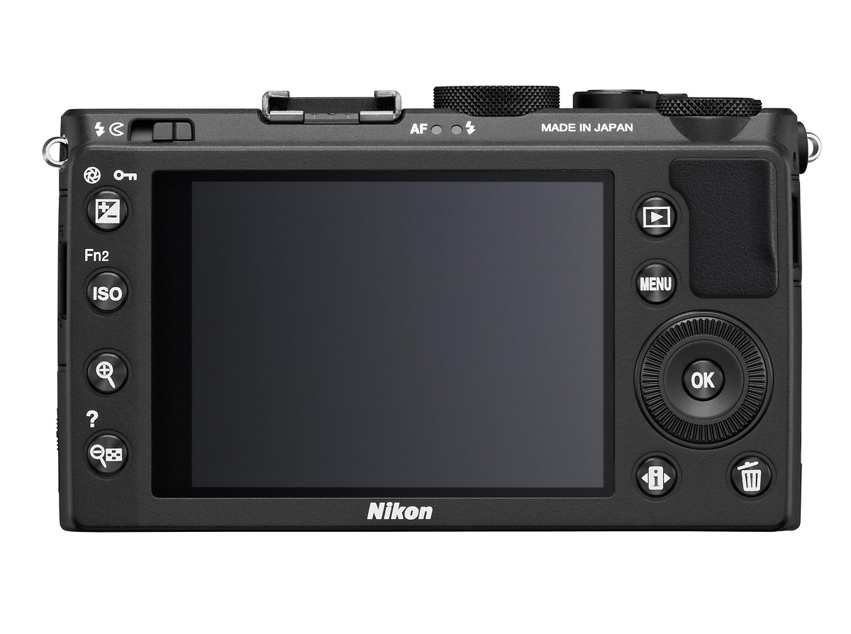 Nikon Coolpix A High-End Pocket Camera - Rear View