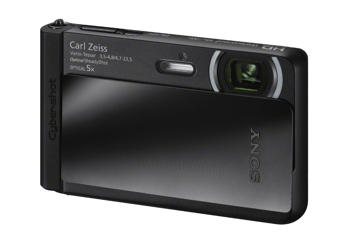 Sony Cybershot TX30 Rugged Point-and-Shoot Camera - Black