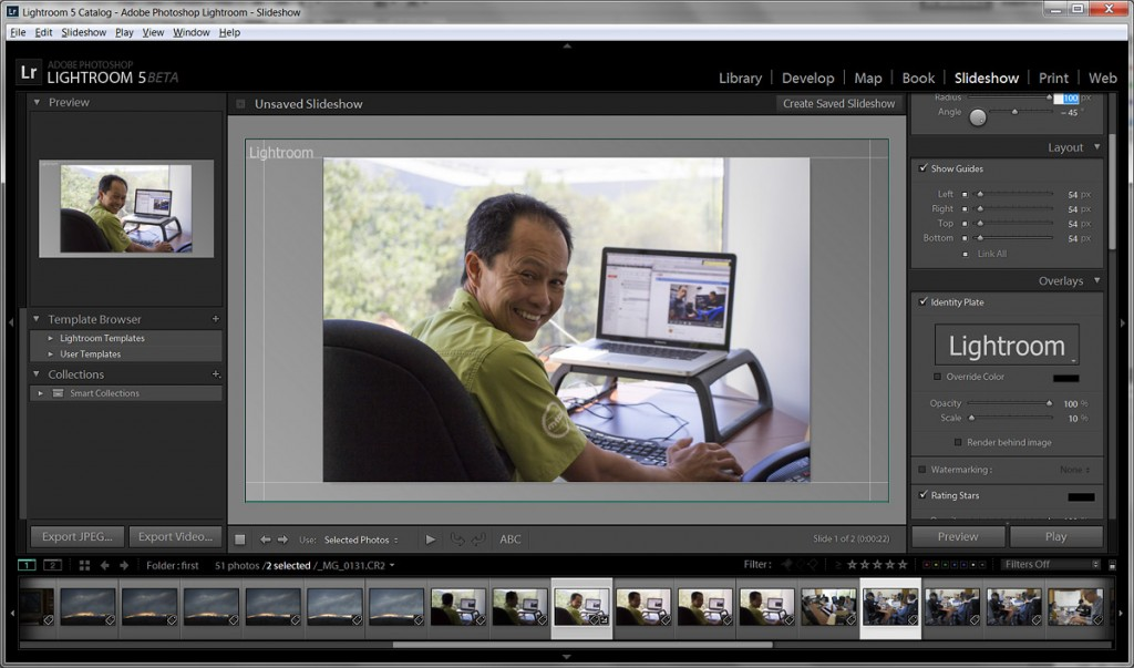 Adobe Lightroom 5 Beta - New Slideshow Module