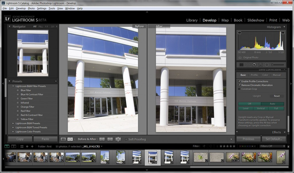 Lightroom 5 Beta - Upright Perspective Corrections Tool Sample