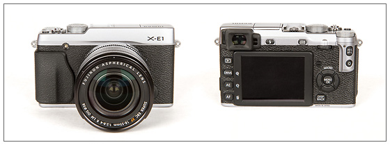 Fujifilm X-E1 With XF 18-55mm Zoom Lens - Front & Back