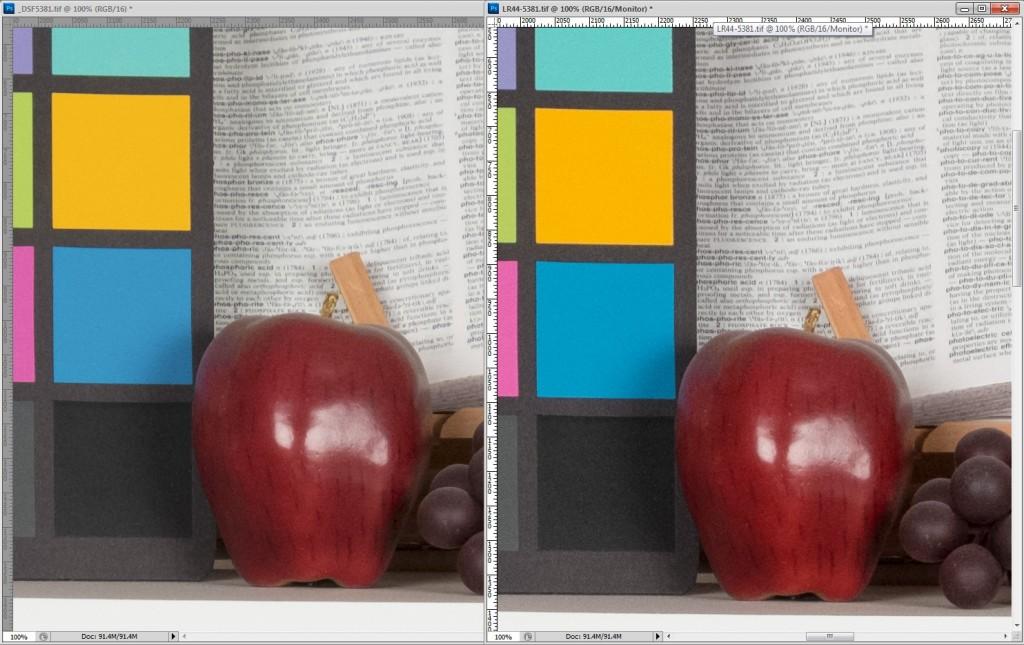 Fujifilm X-E1 Lightroom 4.4 Update Detail Comparison