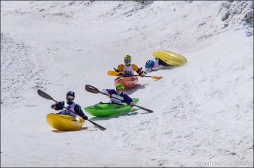 Kayaks on Snow by mattb