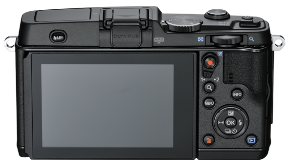 Olympus E-P5 Pen Camera - Rear View - Black