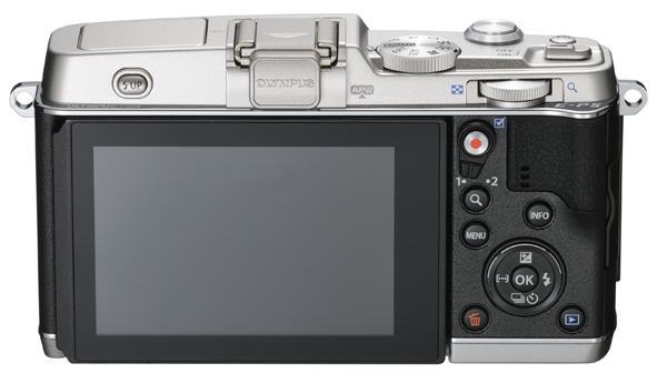 Olympus E-P5 Pen Camera - Rear View - Silver