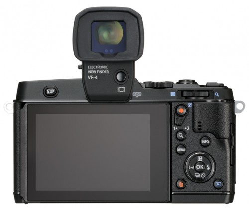 Olympus E-P5 Pen - Rear View With VF-4 EVF