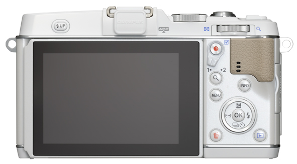 Olympus E-P5 Pen Camera - Rear View - White