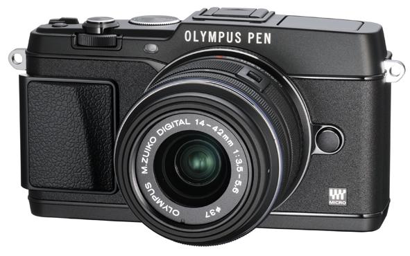 Olympus E-P5 Pen Camera - Black - Angle