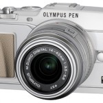 Olympus E-P5 Pen Camera - White - Angle