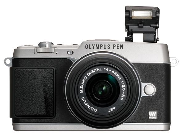 Olympus E-P5 Pen Camera - Pop-Up Flash - Silver