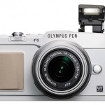 Olympus E-P5 Pen - White With Pop-Up Flash