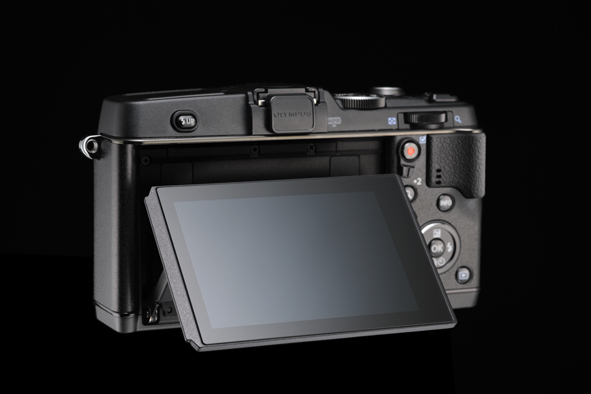 Olympus E-P5 Pen Camera - 3-Inch Tilting Touchscreen LCD