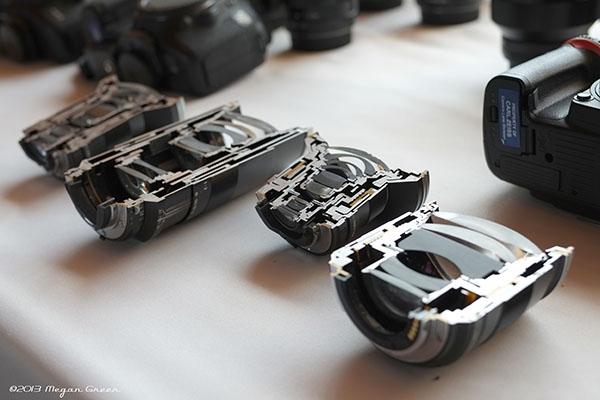 Zeiss Touit 1.8/32 Lens Sample: Cutaway Lenses