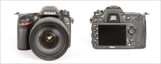 Nikon D7100 DSLR - Front & Back Views