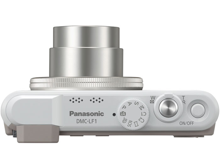 Panasonic Lumix LF1 Premium Pocket Camera - White - Top View