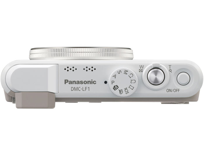 Panasonic Lumix LF1 Premium Pocket Camera - White - Top View - Off