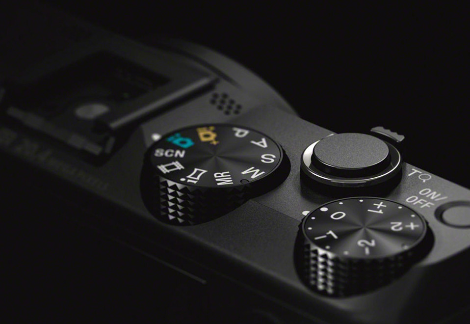 Sony HX50V Mode Dial & Exposure Compensation Dial