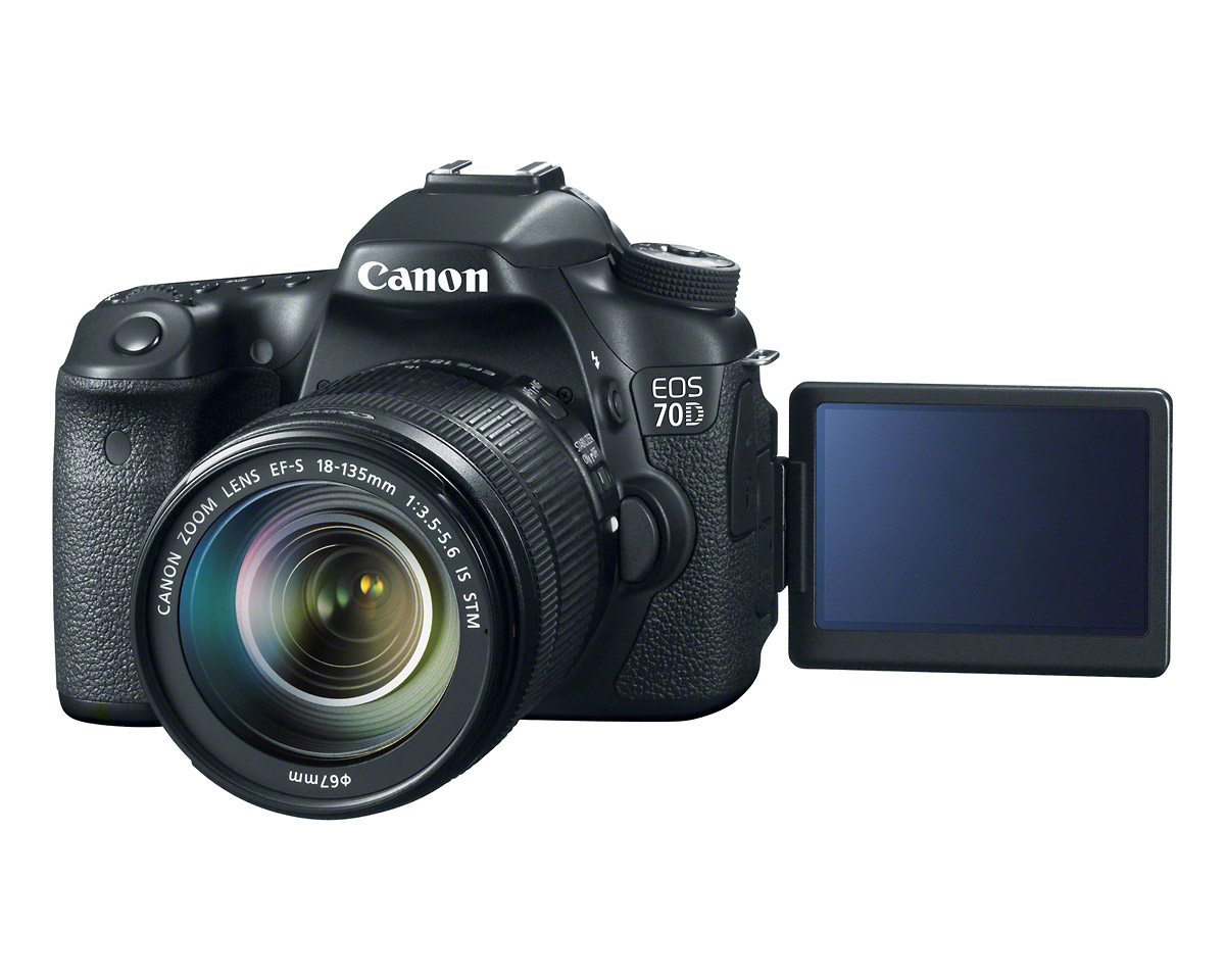 Canon EOS 70D - Front With Vari-Angle LCD Display