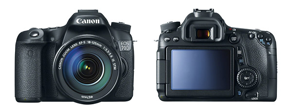 Canon EOS 70D Digital SLR - Front & Back
