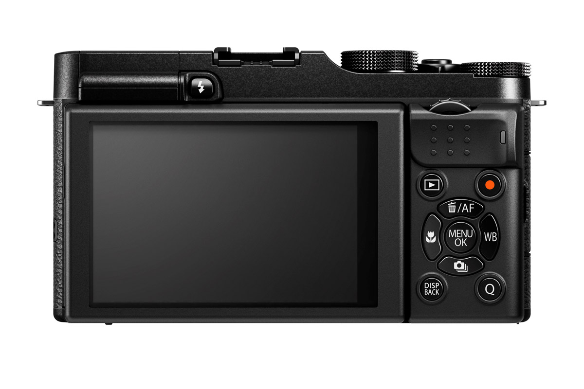 Fujifilm X-M1 Mirrorless Camera - Rear - Black