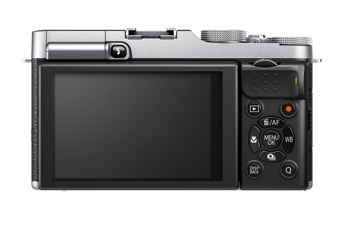 Fujifilm X-M1 Mirrorless Camera - Rear - Silver & Black