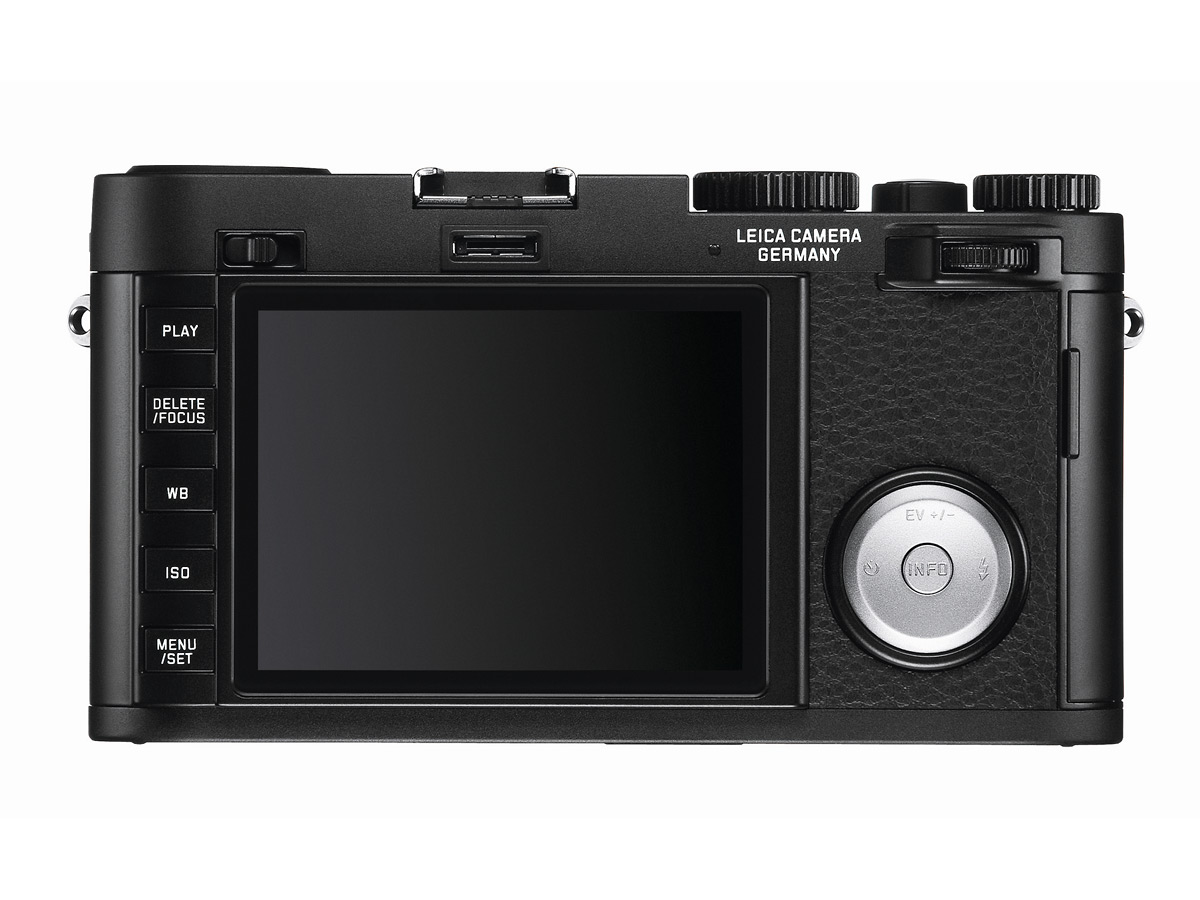 Leica X Vario - Rear View With 3-Inch LCD Display