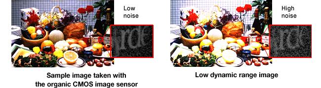 Organic CMOS Sensor Image Quality Comparison