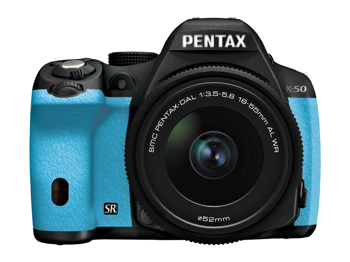 Pentax K-50 DSLR - Black & Blue