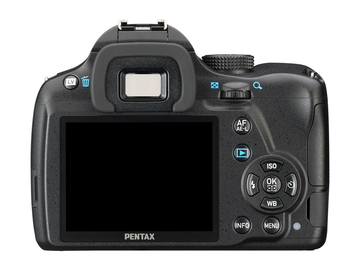 Pentax K-50 DSLR - Rear View With 3-Inch LCD Display