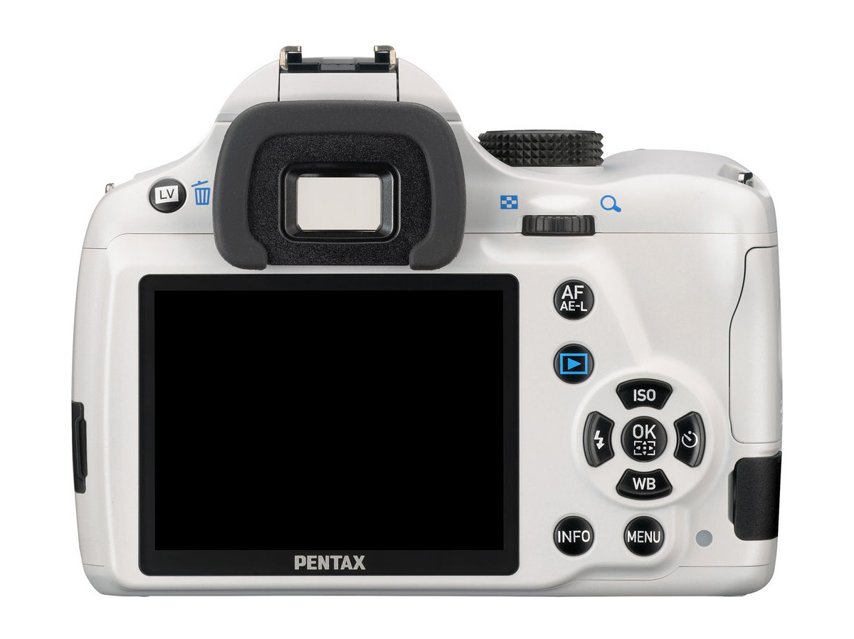 White Pentax K-50 DSLR - Rear View