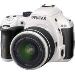 Pentax K-50 DSLR - White & Black
