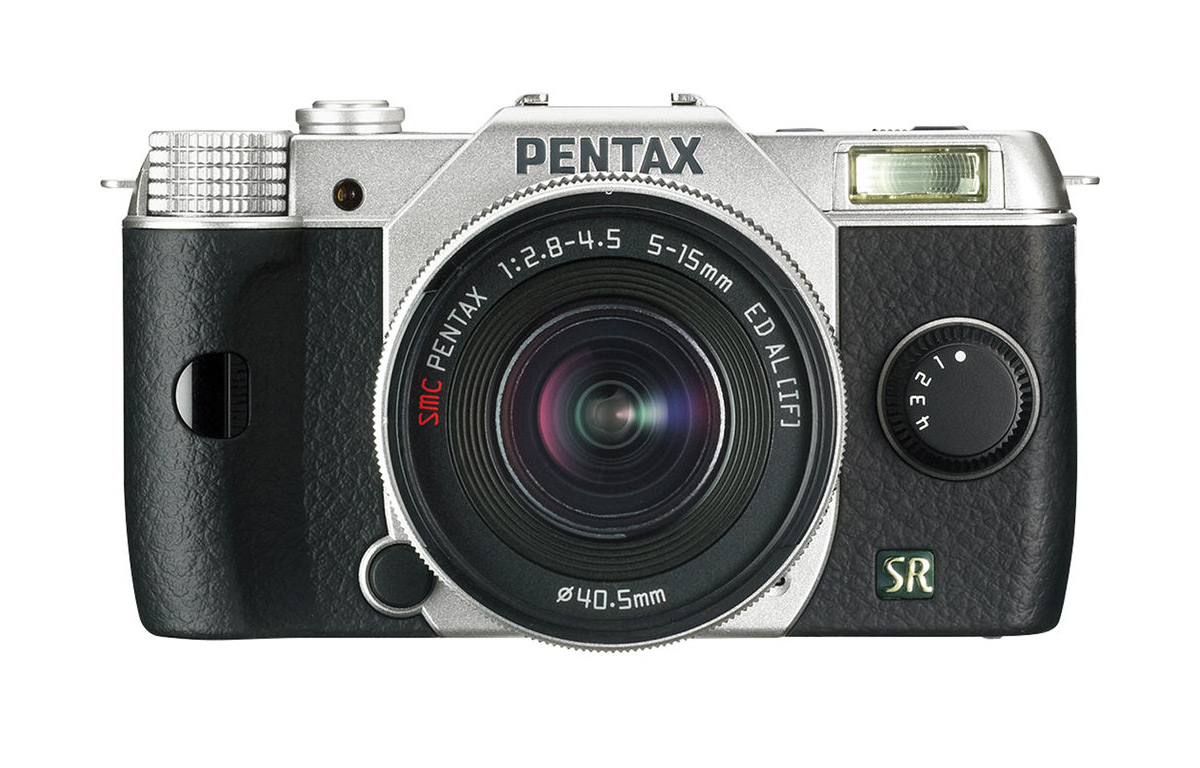 Pentax Q7 Mirrorless Camera - Front - Silver