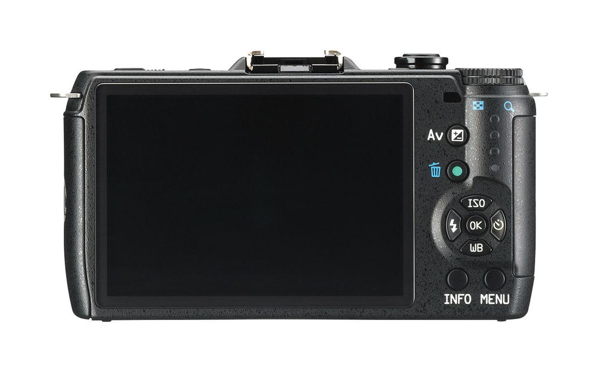 Pentax Q7 Mirrorless Camera - Rear - Black