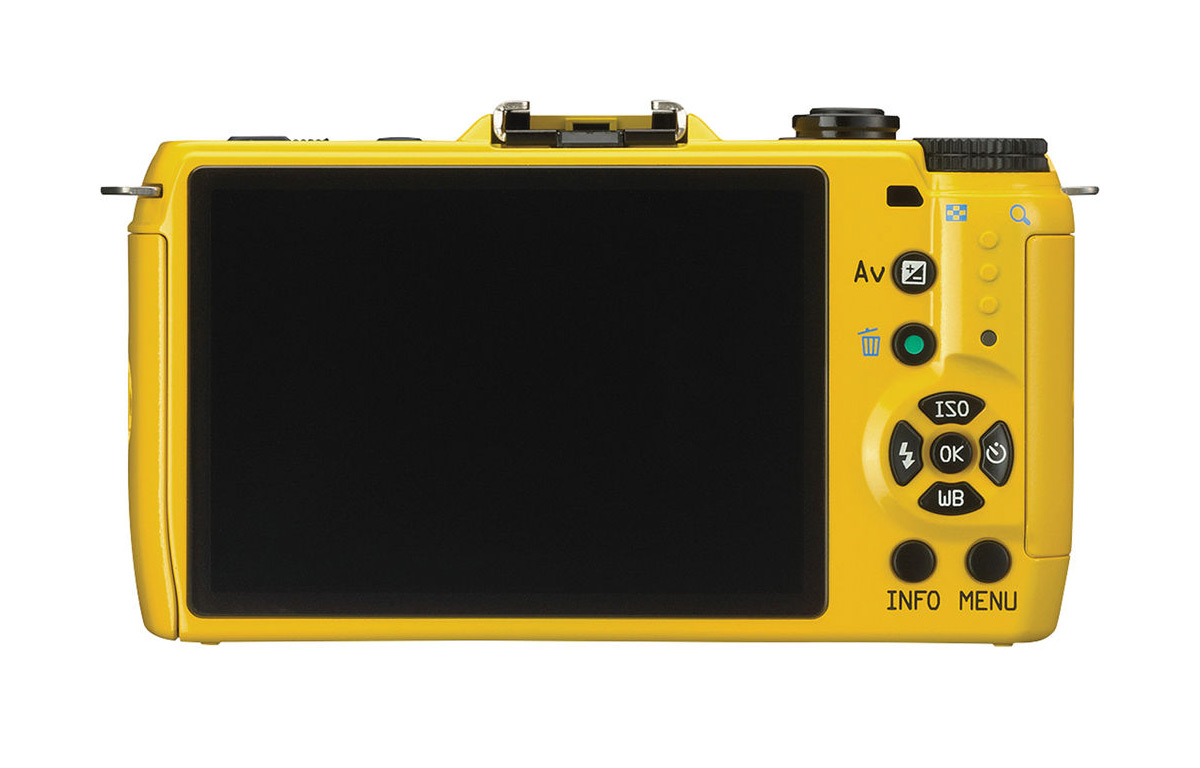 Pentax Q7 Mirrorless Camera - Yellow - Rear