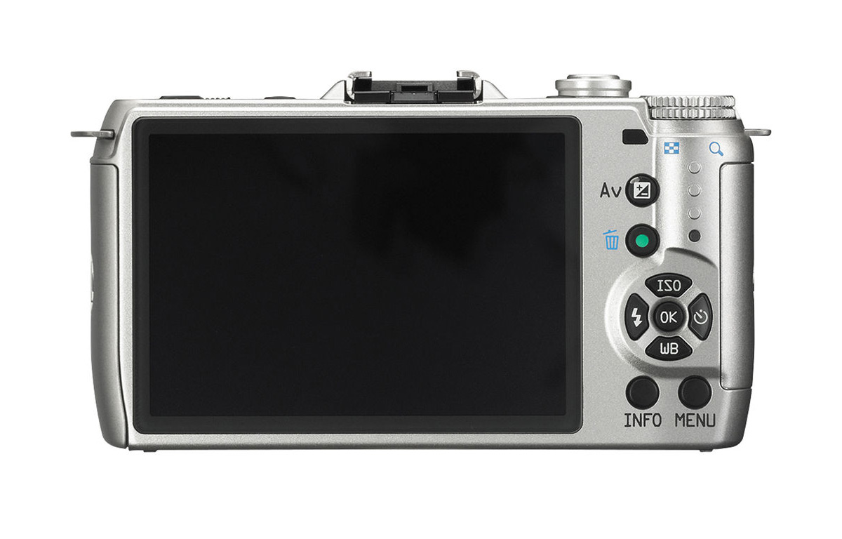 Pentax Q7 Mirrorless Camera - Rear - Silver