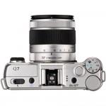 "Pentax Q7 Mirrorless Camera - Top View With 3x ""02"" Kit lens"
