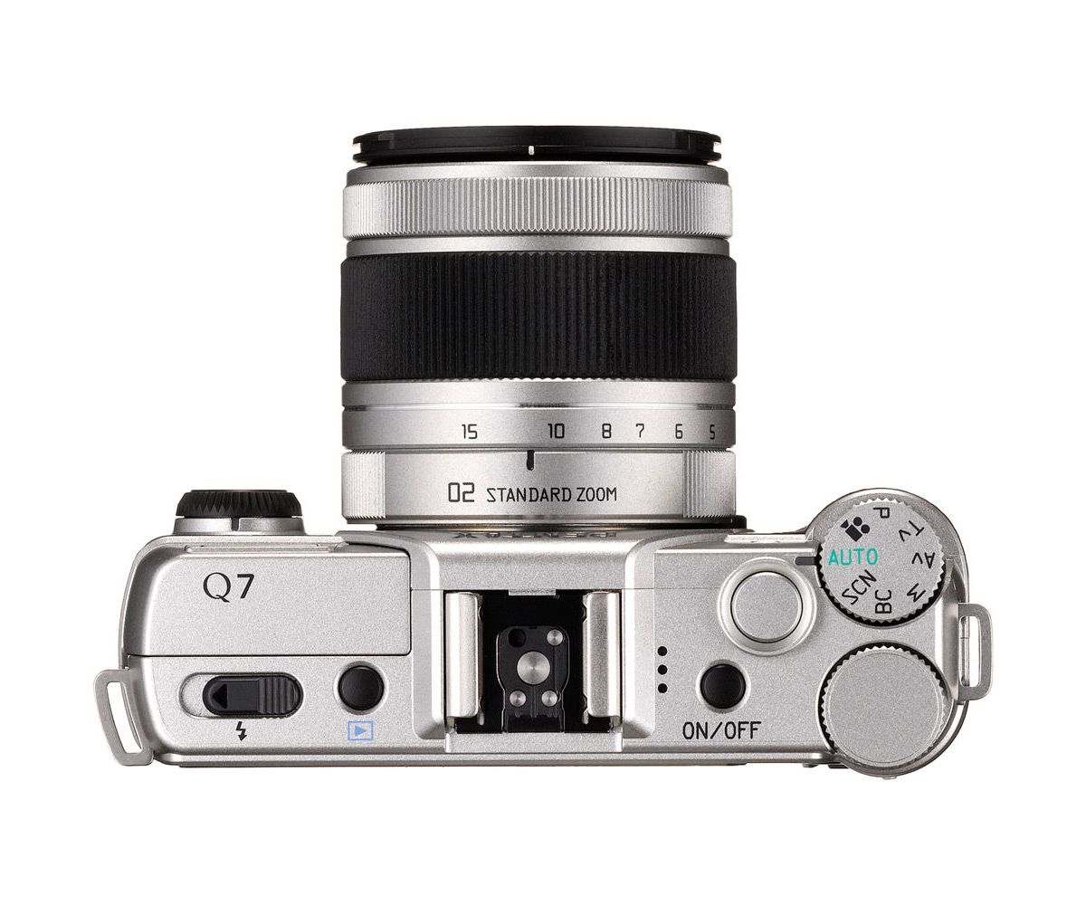Pentax Q7 Mirrorless Camera - Top View With 3x