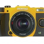 Pentax Q7 Mirrorless Camera - Yellow - Front