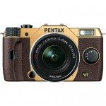 Gold & Brown Pentax Q7 Mirrorless Camera