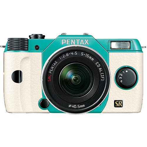 Pentax Q7 Mirrorless Camera - Mint & White