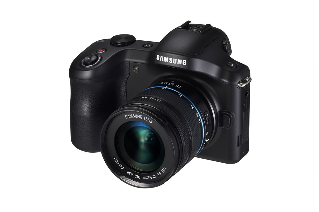 Samsung Galaxy NX Android-Powered Camera - Angle View