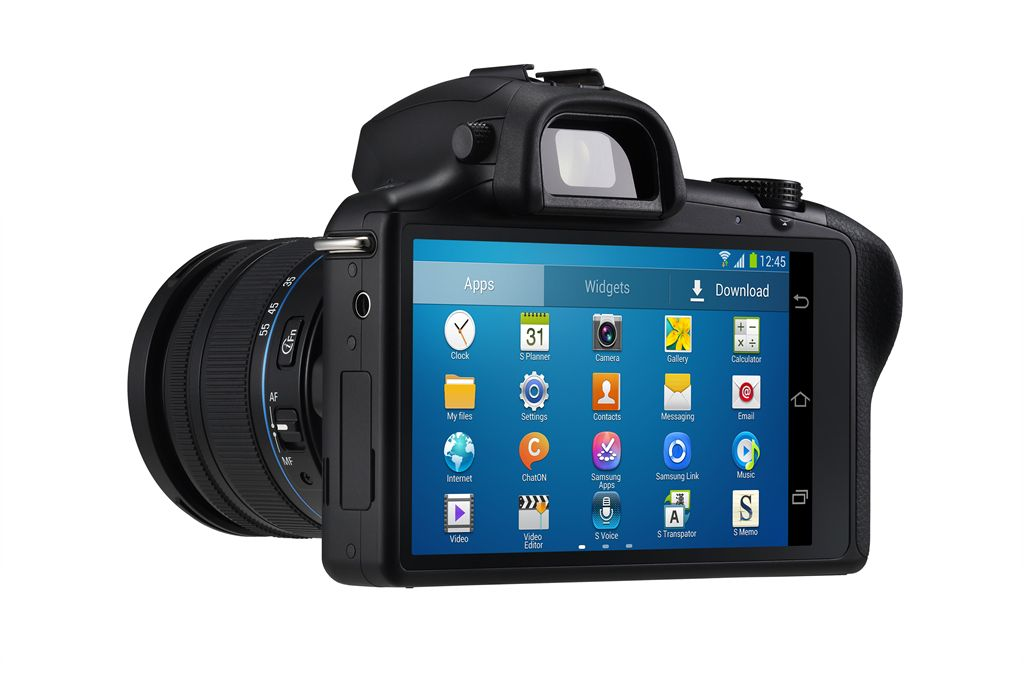 Samsung Galaxy NX - Android-Powered Mirrorless Camera - Left Rear