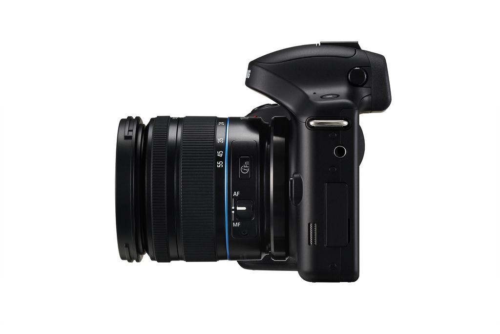 Samsung Galaxy NX Android-Powered Camera - Side View