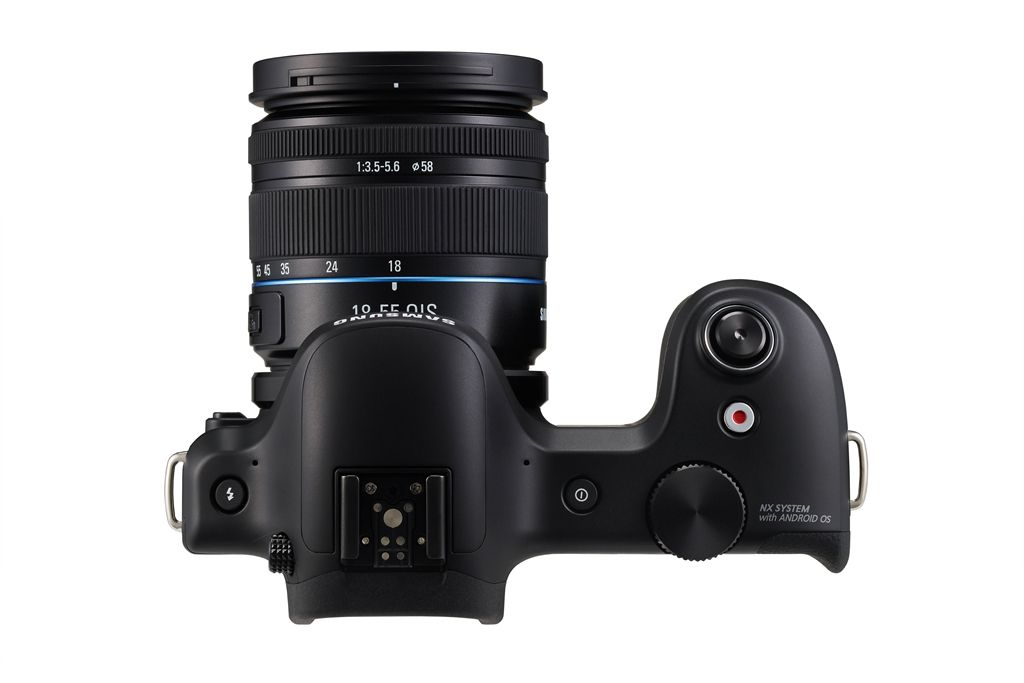 Samsung Galaxy NX - Android-Powered Camera - Top View