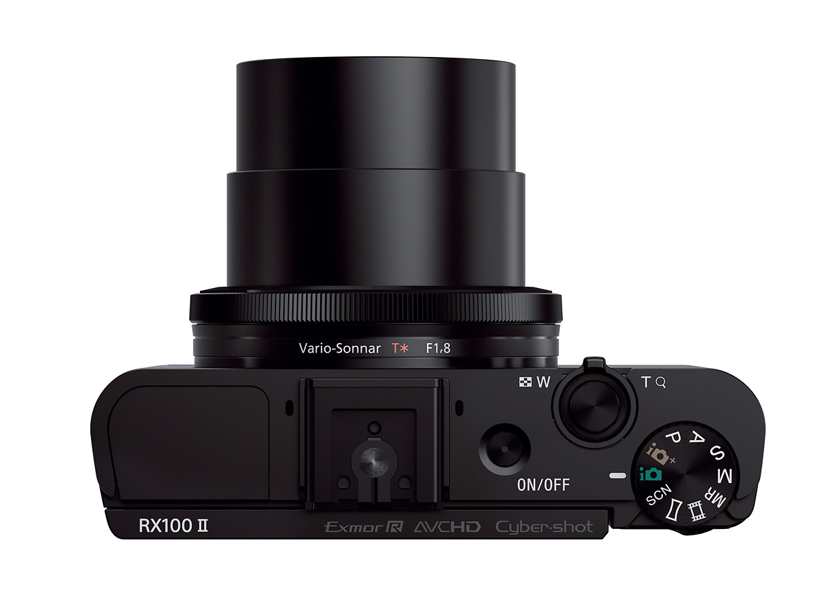 Sony Cybershot RX100 II - Top View With 3.6x Carl Zeiss f/1.8 Zoom Lens