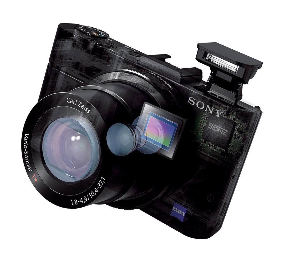 Sony RX100 II - Cutaway With Pop-Up Flash
