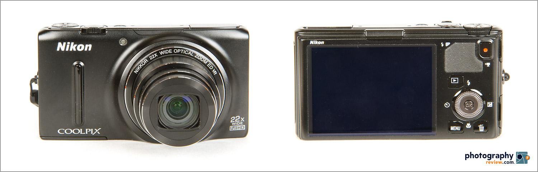 Nikon Coolpix S9500 - Front & Back