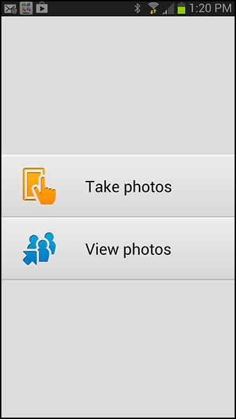 Nikon Coolpix S9500 Wi-Fi Mobile App - Main Screen
